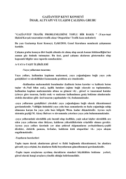 gaziantep kent konseyi imar, altyapı ve ulaşım çalışma grubu