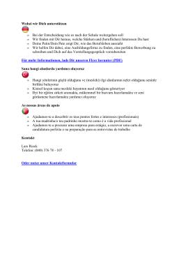 Infos für Schüler