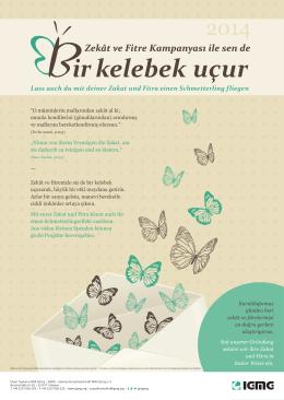 Lass auch du mit deiner Zakat und Fitra einen Schmetterling