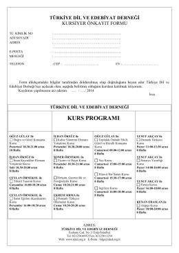 FERİZLİ HEM - Türkiye Dil ve Edebiyat Derneği