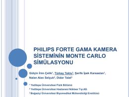 Philips Forte Gama Kamera Sisteminin Monte Carlo Simülasyonu