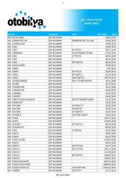 skf fiyat listesi