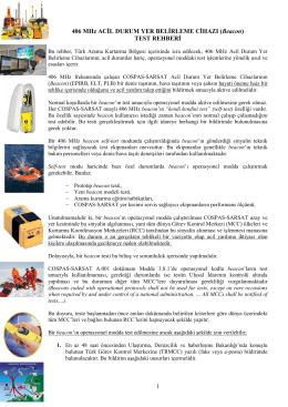 406Mhz TEST PROSEDÜRÜ