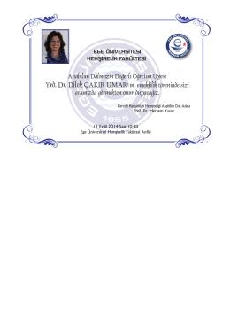 E.Ü. Hemşirelik Fakültesi Cerrahi Hastalıkları