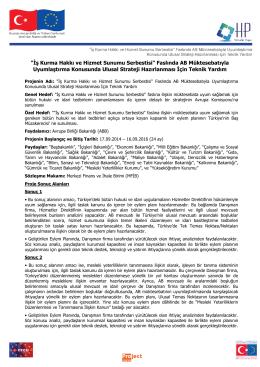 Hizmetler Projesi Bilgi Notu (PDF- 310 Kb)