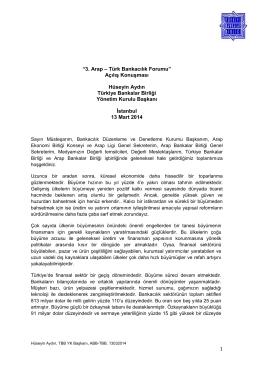 3. Arap – Türk Bankacılık Forumu