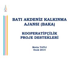 kooperatifçilik proje destekleri (ocak 2014)