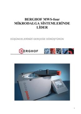 berghof mws-3+ mikrodalga yakma sisteminin üstünlükleri