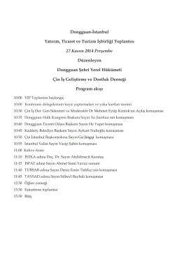 Program Akışı - Gebze Ticaret Odası