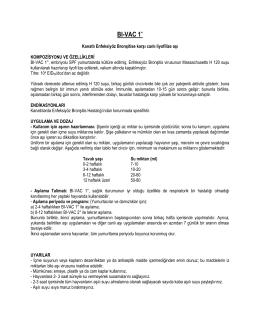 BI-VAC 1° - Güneşli Aşı