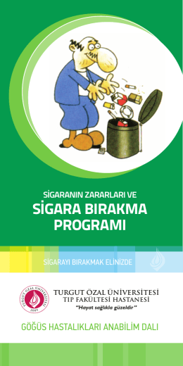sigara bırakma programı - Turgut Özal Üniversitesi Hastanesi