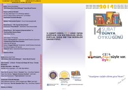 Öykü Günü broşür - Ankara Üniversitesi