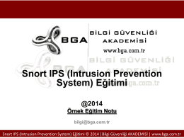 bga_16_snort ips(intrusion prevention system) eğitimi