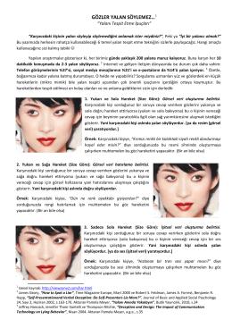 Gözler Yalan Söylemez-Yalanı Tespit Etme İpuçları ( Arif Gökhan