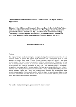 Development of SrO-Al2O3-SiO2 Glass Ceramic Glaze For Digital