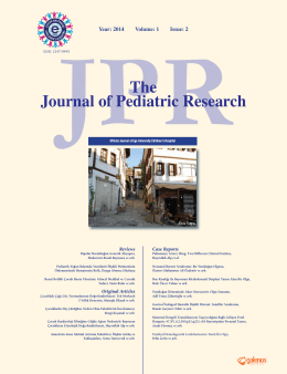 The Journal of Pediatric Research