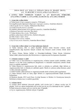 2014-2015 avyılı - 13.Bölge Müdürlüğü