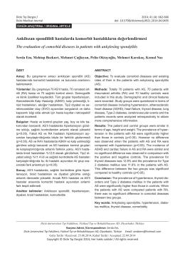Ankilozan spondilitli hastalarda komorbit