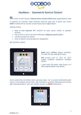 Platform Geometrik Kontrol - UMAX