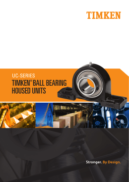 UC Series Ball Bearing Housed Unit Brochure