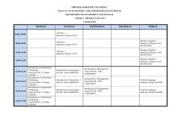 2014-2015 güz yarıyıl haftalık program