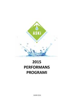 2015 performans programı - Adana Su ve Kanalizasyon İdaresi
