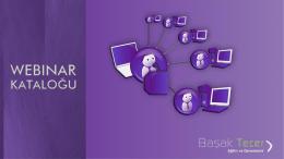 Webinar Kataloğu - Başak Tecer Eğitim ve Danışmanlık