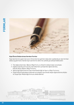 formlar (pdf) - Atılım Üniversitesi