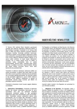 Elektronik Haberleşme Sektöründe Şebeke ve Bilgi Güvenliği
