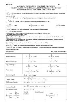 Matematik Makina Bütünleme – 2007