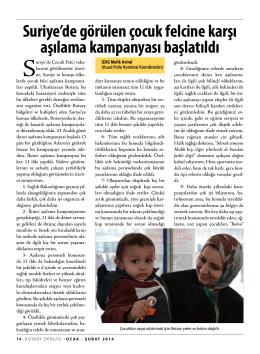 SAYFA 14 - 15 ÇOCUK FELCİ AŞILAMA