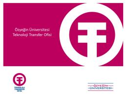 Özyeği Üniversitesi Teknoloji Transfer Ofisi - ÖzÜ TTO
