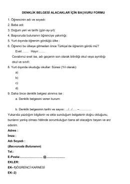 türkçe denklik