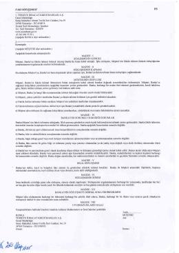 Ek Form - FS Faks Sözleşmesi