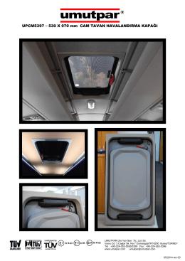 UPCM5397 – 530 X 970 mm CAM TAVAN
