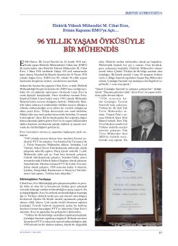 96 yıllık yaşam öyküsüyle bir mühendis