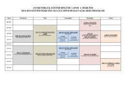 antrenörlük eğitimi bölümü 1.sınıf ι. öğretim 2014