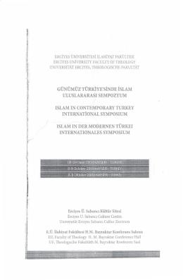 S. Özdemir - AB Giriş Sürecinde İlahiyat Fakültelerinde Yeni Bir