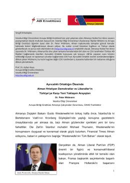 Almanya Notları 2 - İstanbul Bilgi Üniversitesi