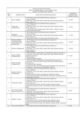 suluova kaymakamlığı sydv müdürlüğü kamu hizmet standardı