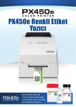 PX450e Color Printer Brochure Türk