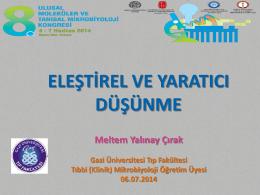 Meltem YALINAY ÇIRAK - Ankara Mikrobiyoloji Derneği