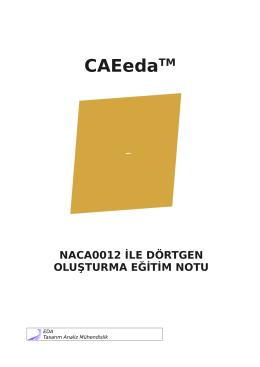 Naca0012 ile Geometri Oluşturma - Eda Tasarım Analiz Mühendislik