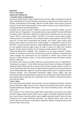Dayanışma Prof. Dr. Faruk Beşer Sakarya Üniv. İlâhiyat