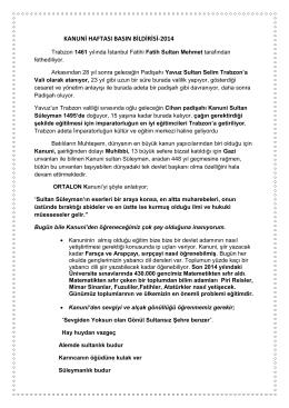 kanuni basın bildirisi-2014