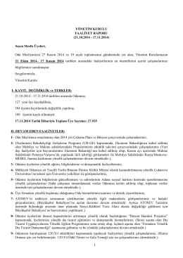 FAALİYET RAPORU - Adana Ticaret Odası