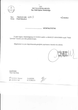 a.zııoızoıc - mut ilçe millî eğitim müdürlüğü