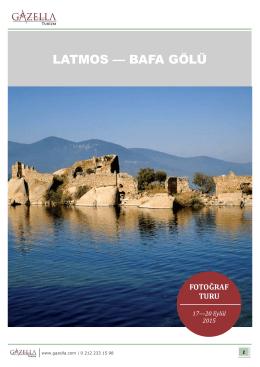 LATMOS — BAFA GÖLÜ - Gazella Foto Safari