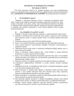 İndirin - PDF - Özgürlük ve Demokrasi Platformu