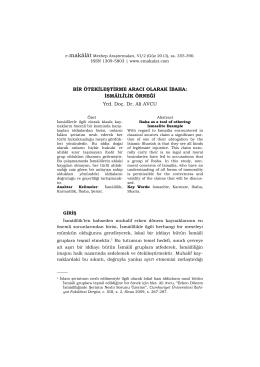 PDF dosyayı İNDİR - e-Makalat Mezhep Araştırmaları Dergisi